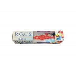 Rocs Kids 3 - 7 Yaş Diş Fırçası + Diş Macunu Meyve Külahı 35 ml / Turuncu