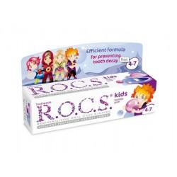 Rocs Kids 4 - 7 yaş Diş Macunu Balon Sakızı Tadında 35 ml