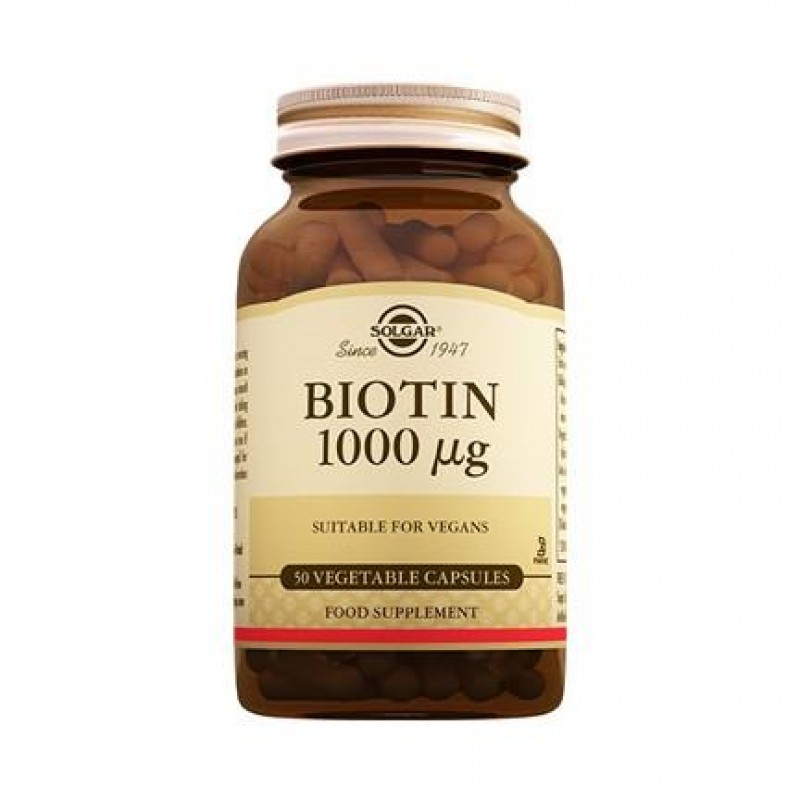 Solgar Biotin 1000 mcg 50 Kapsül
