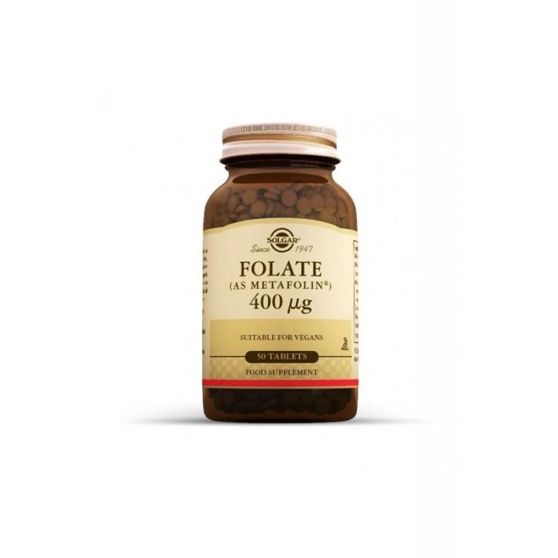 Solgar Folate As Metafolin 400 mcg 50 Tablet