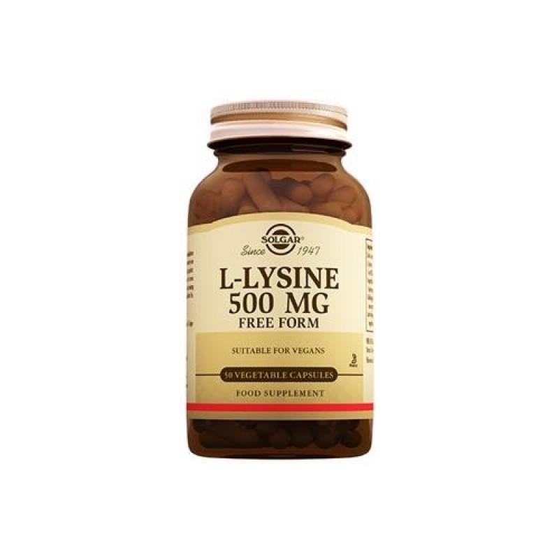 Solgar L-Lysine 500 mg 50 Tablet