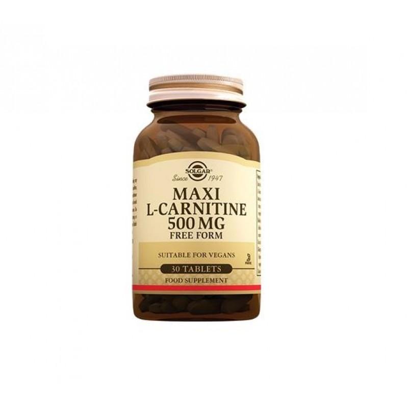 Solgar Maxi L-Carnitin 500 mg 30 Tablet