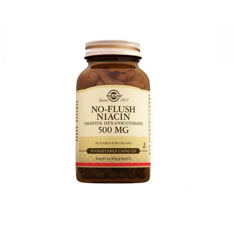 Solgar No Flush Niacin 500 mg 50 Kapsül