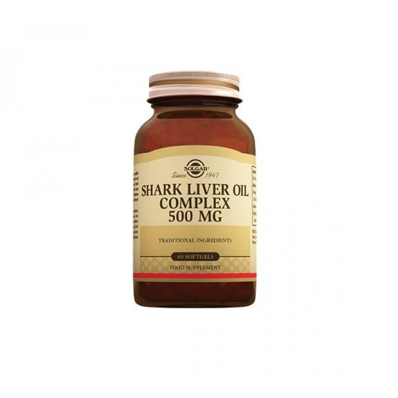 Solgar Shark Liver Oil Complex 500 mg 60 Kapsül