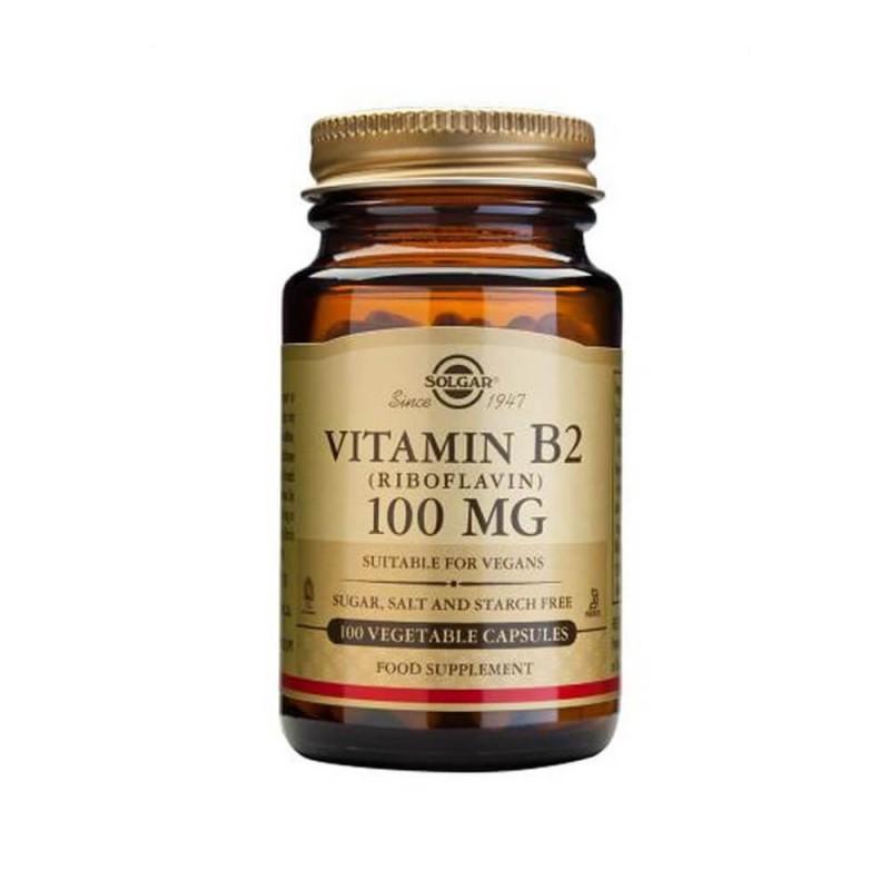 Solgar Vitamin B2 100 mg 100 Kapsül
