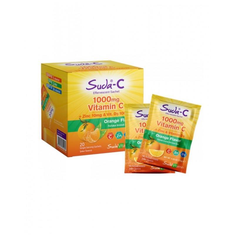 Suda Vitamin C Portakal 1000 mg 20 Saşe