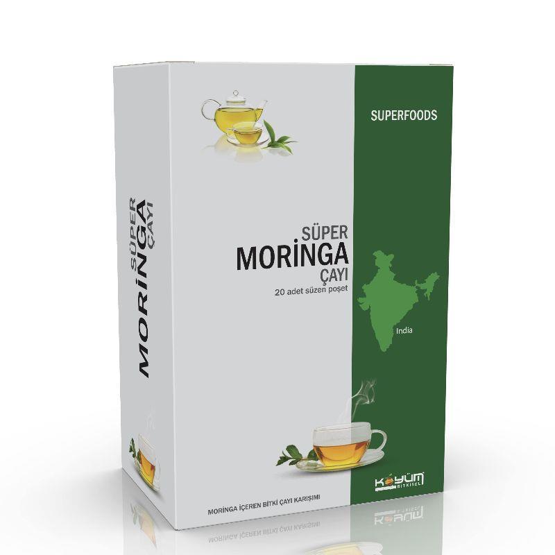 Süper Moringa Çayı 20 Adet Süzen Poşet