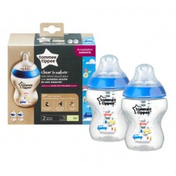 Tommee Tippee Closer to Nature PP Biberon 2 x 260 ml - Mavi