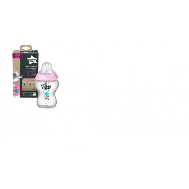 Tommee Tippee Closer to Nature PP Biberon 260 ml Pembe