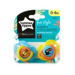 Tommee Tippee Fun Style Emzik 2 Adet 0-6 Ay Mavi - Sarı