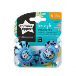 Tommee Tippee Fun Style Emzik 2 Adet 6-18 Ay Mavi