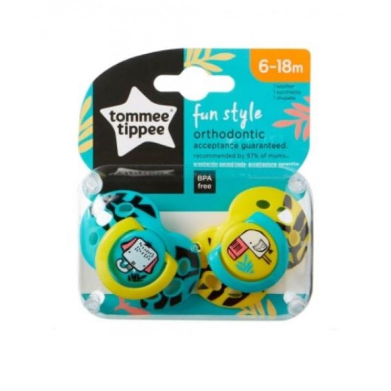 Tommee Tippee Fun Style Emzik 2 Adet 6-18 Ay Sarı