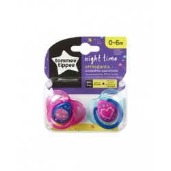 Tommee Tippee Night Time Emzik 2 Adet 0-6 Ay - Pembe
