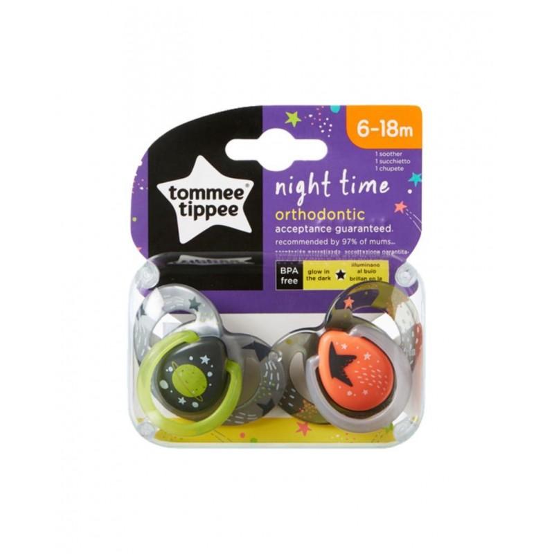 Tommee Tippee Night Time Emzik 2 Adet 6-18 Ay