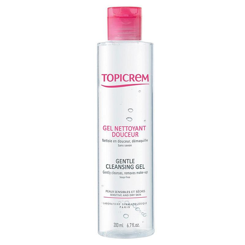 Topicrem Gentle Cleansing Gel Face & Body & Hair 200 ml