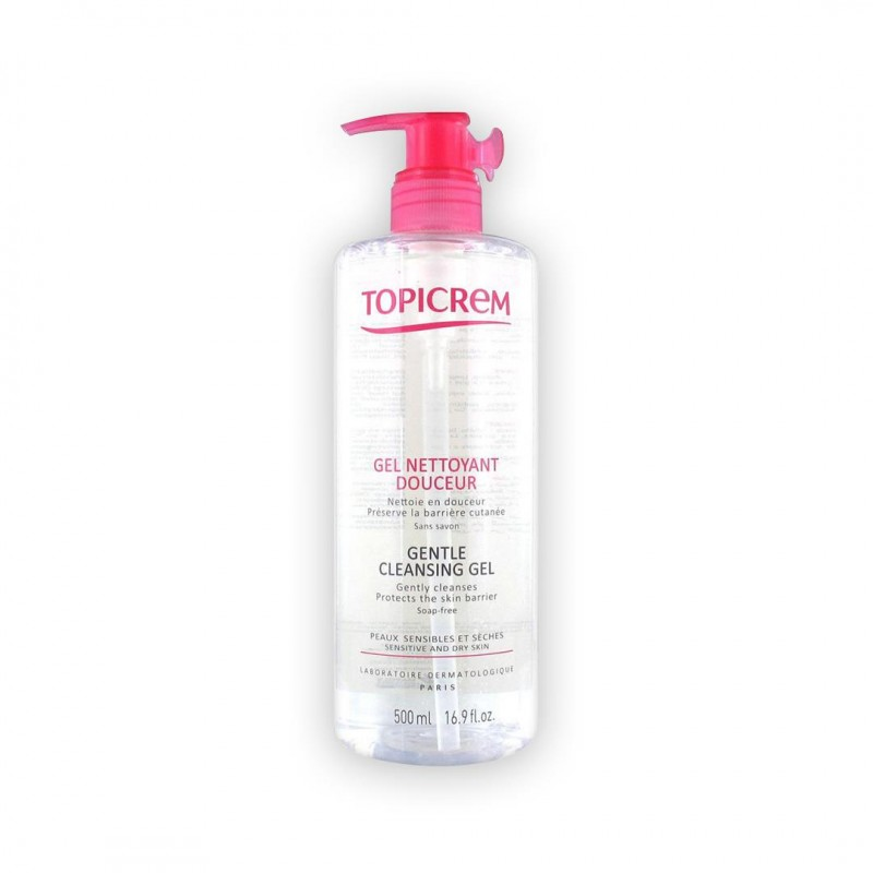 Topicrem Gentle Cleansing Gel Face & Body & Hair 500 ml