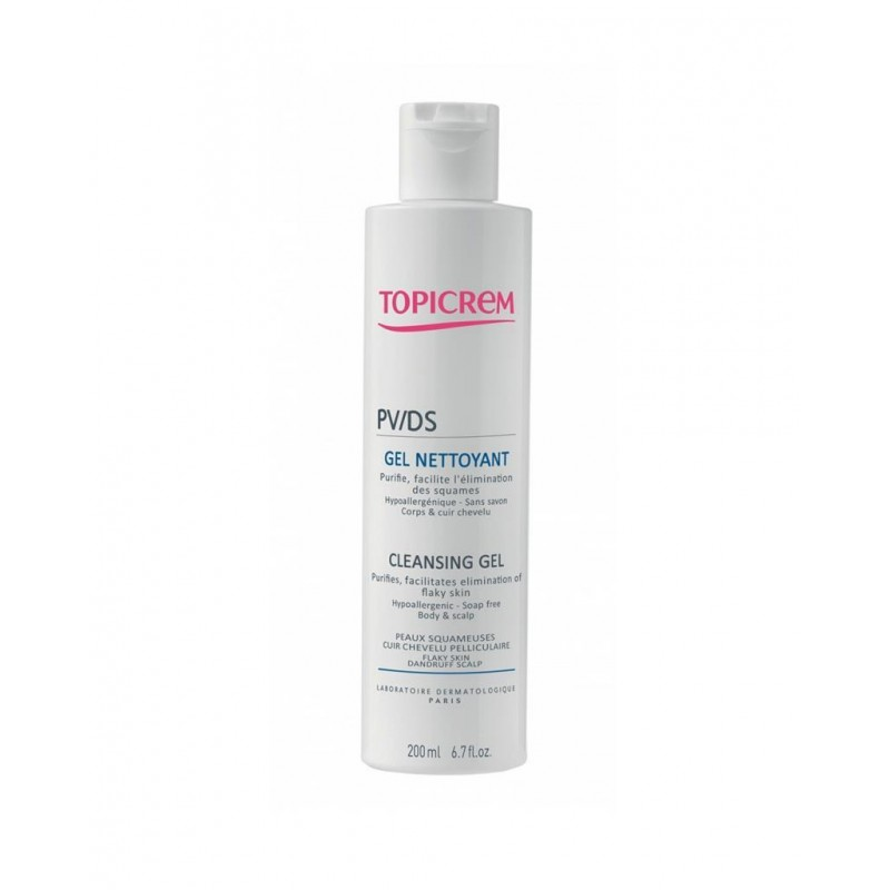 Topicrem PV/DS Cleansing Gel Body & Hair Sclap 200 ml