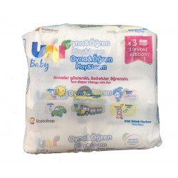 Uni Baby Oyna&Öğren Islak Bebek Havlusu 52 Adet - 3'lü Avantaj Paketi