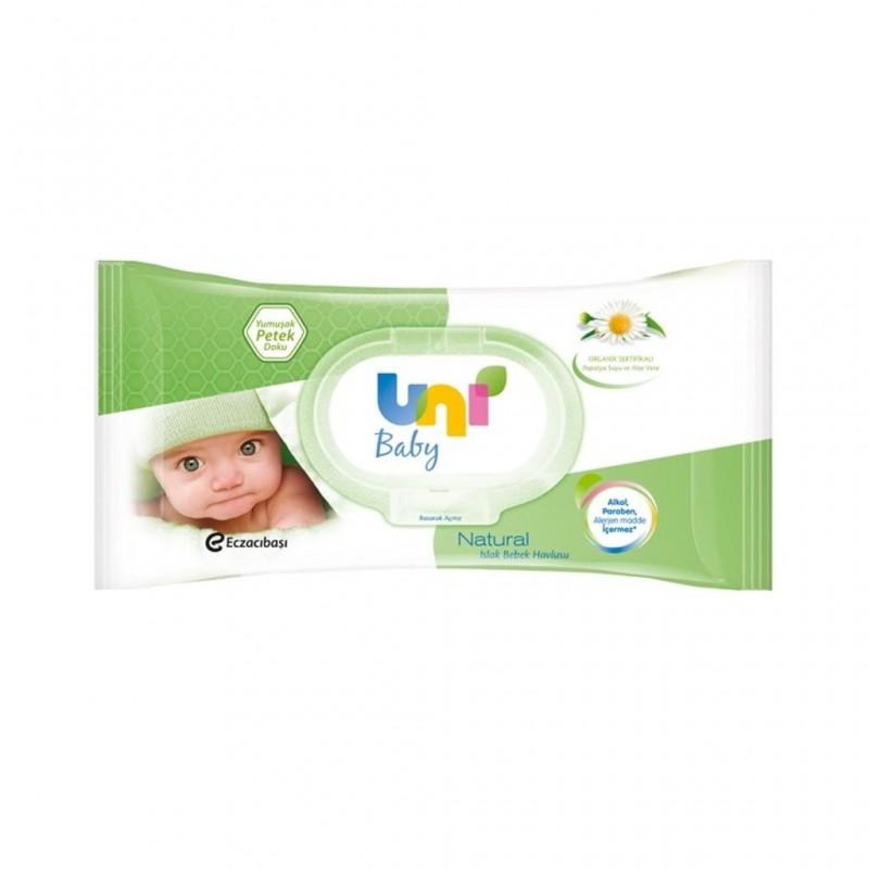 Uni Baby Natural 56 Yaprak Islak Mendil