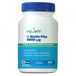 Velavit V-Biotin Plus 5000 mcg 60 Tablet