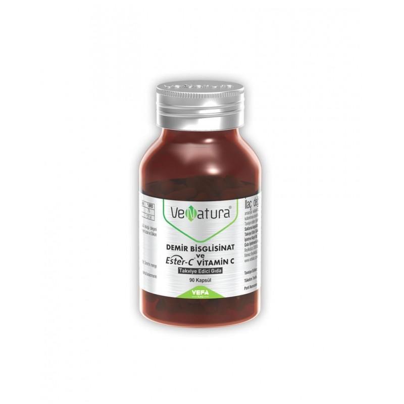 VeNatura Demir Bisglisinat ve Ester-C Vitamin C 90 Kapsül