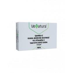 VeNatura Sambu-C Kara Mürver Ekstresi ve Vitamin C 20 Kapsül