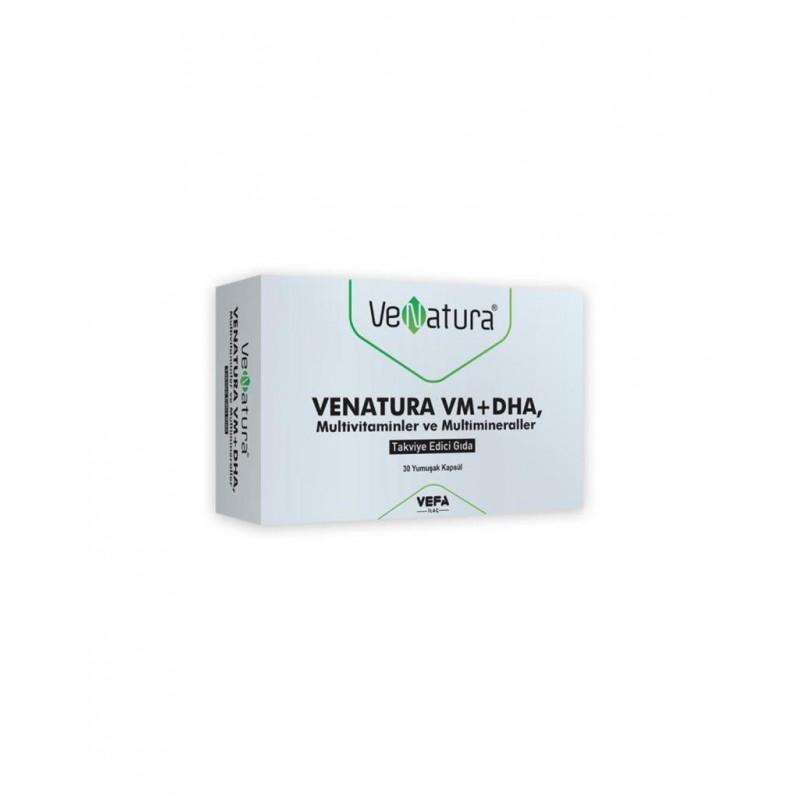 VeNatura VM+DHA Multivitaminler ve Multimineraller 30 Yumuşak Kapsül