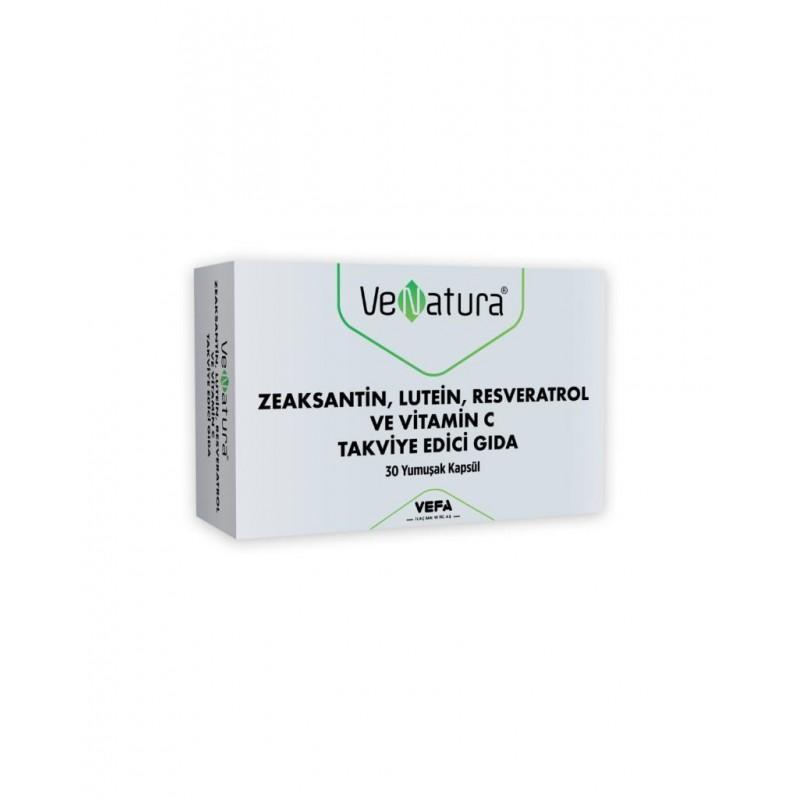 VeNatura Zeaksantin Lutein Resveratrol ve Vitamin C 30 Yumuşak Kapsül