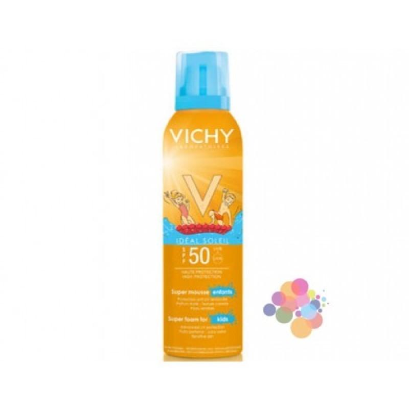 Vichy Ideal Soleil Mousse Enfant Spf 50+ 150 ml (Çocuklar için Yüksek Korumalı Köpük)