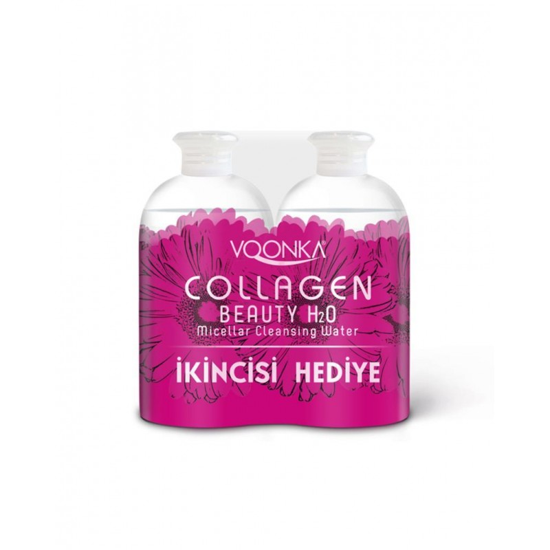 Voonka Collagen Beauty H₂O Micellar Cleansing Water 2x500 ml