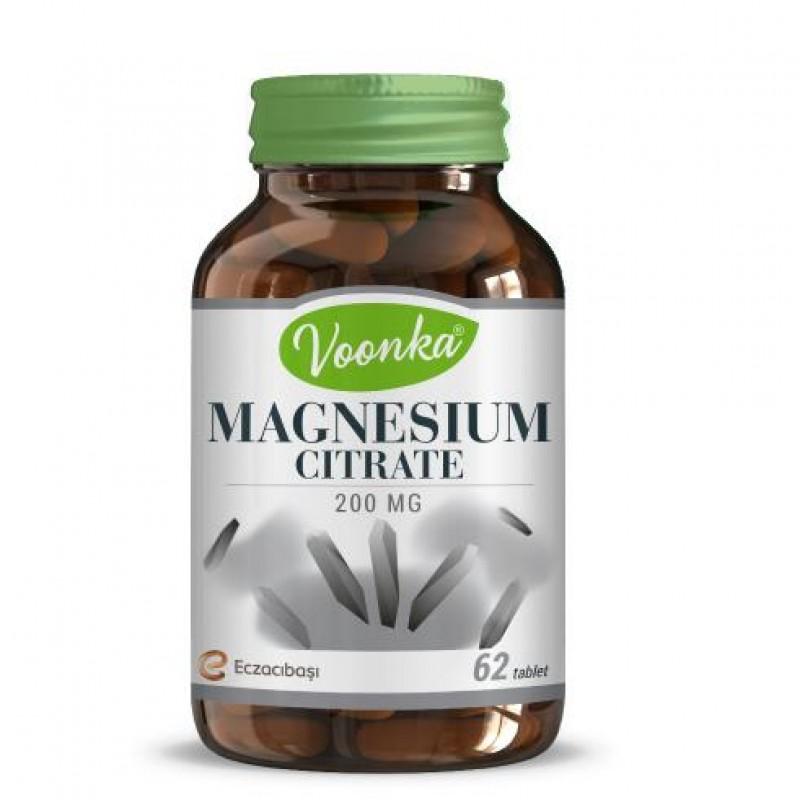 Voonka Magnesium Citrate 62 Kapsül