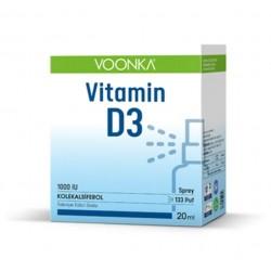 Voonka Vitamin D3 1000 IU Sprey 20 ml