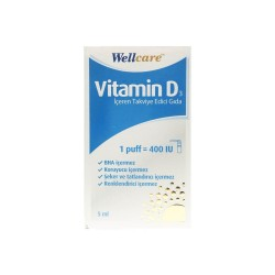 Wellcare Vitamin D3 400'lü 5 ml