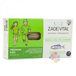 Zade Vital Omega 3 Balık Yağı Çoçuklar için 60 Kapsül