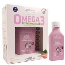 Zade Vital Premium Omega 3 Çilek Aromalı Balık Yağı Şurubu 100 ml
