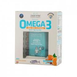 Zade Vital Premium Omega 3 Portakal Aromalı Balık Yağı Şurubu 100 ml