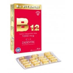 Zade Vital Vitamin B12 30 Yumuşak Kapsül