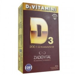 Zade Vital D3 Vitamini Blister 30 Kapsül