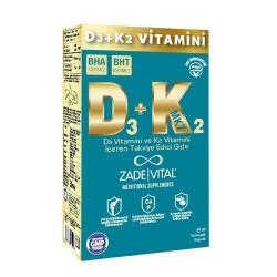 Zade Vital Vitamin D3 + K2 30 Yumuşak Kapsül